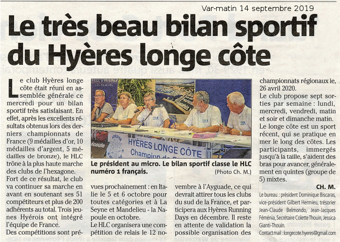 Article var matin 11 septembre 2019 ag