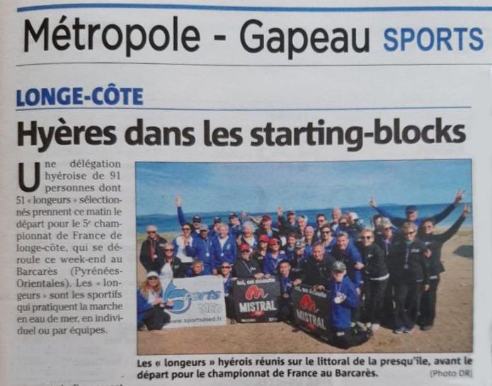 Article var matin 2019 depart aux championnats de france